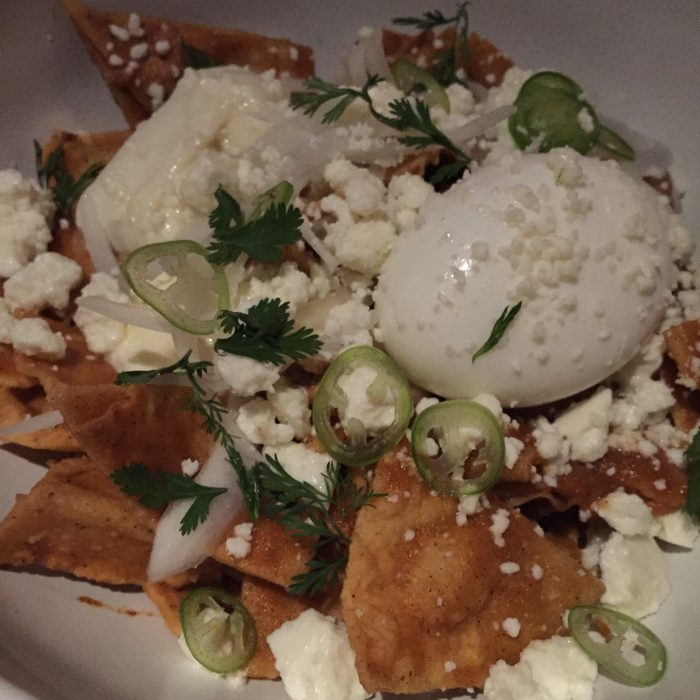 Chilaquiles at Cosme NYC via Unbuttoningpants.com