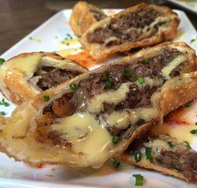 Break the internet- cheesesteak egg rolls