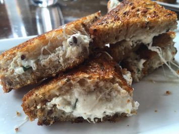 Burrata grilled cheese