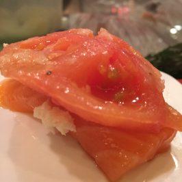 Salmon tomato heaven at Sushi of Gari