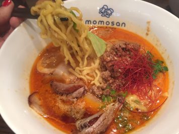 Noodle pull on Tan Tan noodles